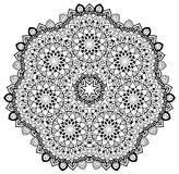 Flowered Mandala. Ornamental round mandala. Geometric circle element made in . Perfect for any other kind of design, birthday and other holiday, kaleidoscope Royalty Free Stock Image