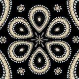 Flowered mandala with yin-yang. Flowered mandala yin-yang zwn zen spiritual meditation inspiration black art creation decor relaxing pattern geometry stock illustration
