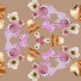 Flowered mandala with yin-yang. Flowered mandala yin-yang zwn zen spiritual meditation inspiration black art creation decor relaxing pattern geometry royalty free illustration