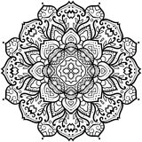 Flowered Petal Mandala Royalty Free Stock Images