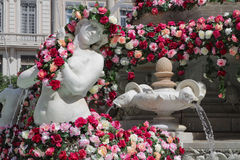 Flowered siren on Place des Jacobins Royalty Free Stock Image