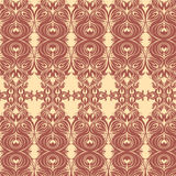 Flowered tileable pattern Stock Images
