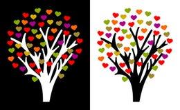 Flowered tree heart Stock Photos