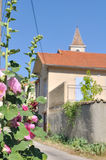 Flowered village Stock Photo