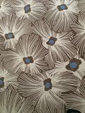 Flowered vintage moquette, carpet, carpeting close up, texture background. S royalty free stock photography