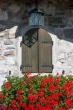 Flowered window Royalty Free Stock Photo