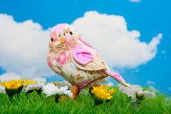 A flowerfabric spring bird Royalty Free Stock Image