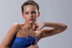 flowergirl Obrazy Royalty Free