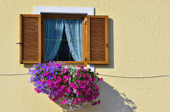 Flowering balconies Royalty Free Stock Photo