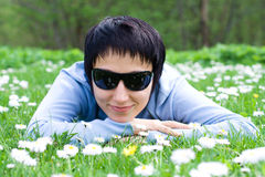 On the flowering meadow Stock Photos