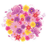 Flowering planet Stock Images