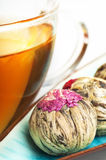 Flowering tea balls Royalty Free Stock Photo