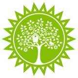 Flowering tree and bird Royalty Free Stock Image