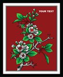 FLOWERING TREE PAINTINGS VECTOR DESIGN ART. FLOWERING TREE PAINTINGS; VERY SUITABLE FOR DESIGN OF LIVING ROOM, FAMILY ROOM, STORE AND WALL DECORATION,TREE vector illustration