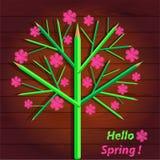 Flowering tree, spring Stock Photo