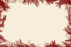 Flowerish border. Useful frame for text placement Royalty Free Stock Photography