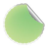 Flowerish light green label Royalty Free Stock Photos