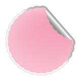 Flowerish pink label Stock Photo