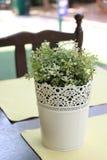 Flowerpot εκλεκτής ποιότητας υπόβαθρο Στοκ Εικόνα