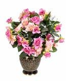 Flowerpot. A flowerpot in front view Stock Photo