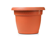 Flowerpot. A flowerpot isolated on white stock photography