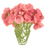 Flowerpot. A bouquet of pink roses Royalty Free Stock Photo