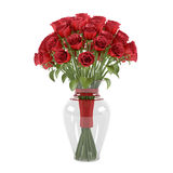 Flowerpot. A bouquet of red roses Royalty Free Stock Photography