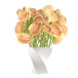 Flowerpot. A bouquet of yellow roses Royalty Free Stock Photos