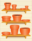 Flowerpot Collection royalty free illustration