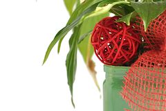 Flowerpot con la sfera di potenza Fotografie Stock