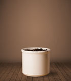 Flowerpot with copy space Royalty Free Stock Images