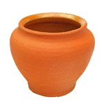Flowerpot d'argile de Brown Photographie stock libre de droits