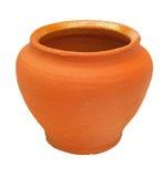 Flowerpot dell'argilla del Brown Fotografia Stock Libera da Diritti