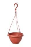 Flowerpot di plastica sospeso per le piante Fotografia Stock