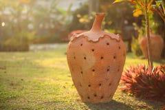 Flowerpot. Flower pots placed in the garden Stock Image