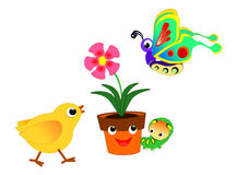 Flowerpot and friends Royalty Free Stock Image
