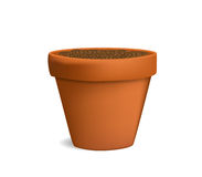 Flowerpot with ground vector illustration Royalty Free Stock Photography