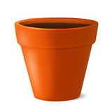 Flowerpot with ground vector illustration Stock Images
