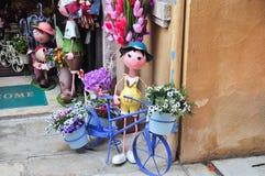 Flowerpot-Halterung-Fahrrad Lizenzfreie Stockbilder