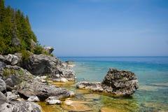 Flowerpot Island. A photo taken around Flowerpot Island, Ontario, Canada royalty free stock photo