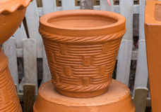 The flowerpot. Made from baked clay Stock Images