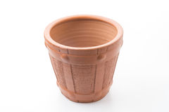 The flowerpot. Made from baked clay Royalty Free Stock Photography