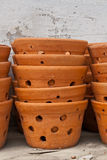 Flowerpot. The flowerpot made from baked clay in sunday market stock images