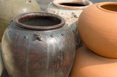 Flowerpot. The flowerpot made from baked clay in sunday market Royalty Free Stock Photo