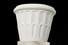 Flowerpot made by marble. Flowerpot made from marble that can be used as a decorative in a gaden Stock Photography