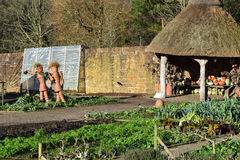 Flowerpot Men, RHS Rosemoor Garden. Vegetable Garden, RHS Rosemoor Garden, Great Torrington at Xmas Stock Photo