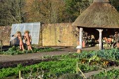 Flowerpot Men, RHS Rosemoor Garden Stock Photo