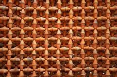 Flowerpot pattern wall Stock Photo