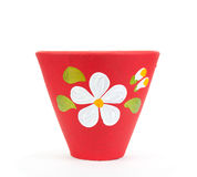 Flowerpot. Pottery flowerpot on white backgroung. isolate royalty free stock photos