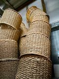 Flowerpot rattan for wearing plant,Color brown ,Design asian. Flowerpot rattan is beauty for wearing plant Color brown stock images